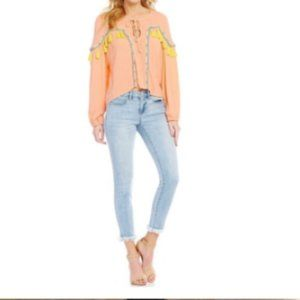 Gianni Bini Tassle Long Sleeve